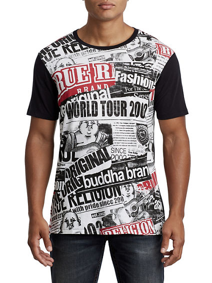 BUDDHA TABLOID ELONGATED TEE