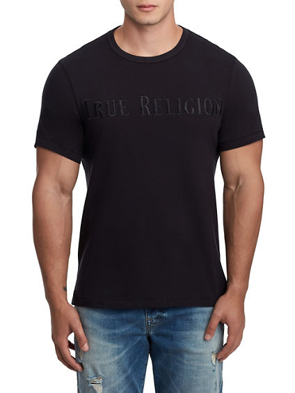 MENS TR EMBROIDERY APPLIQUE TEE