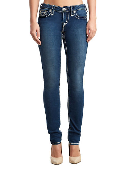 WOMEN'S SKINNY FIT BIG T JEAN