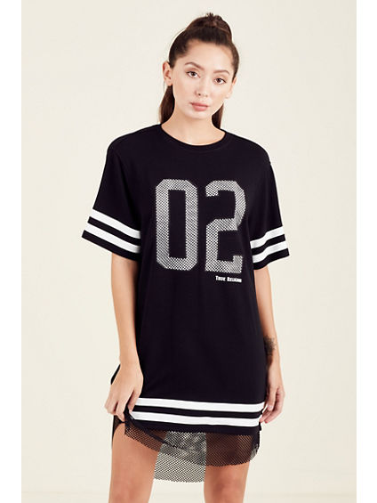 OVERSIZED MESH GRAPHIC 02 WOMENS TUNIC