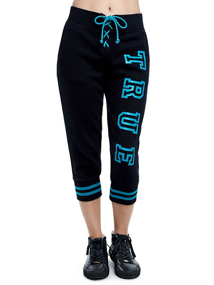 TRUE LACE UP CAPRI JOGGER