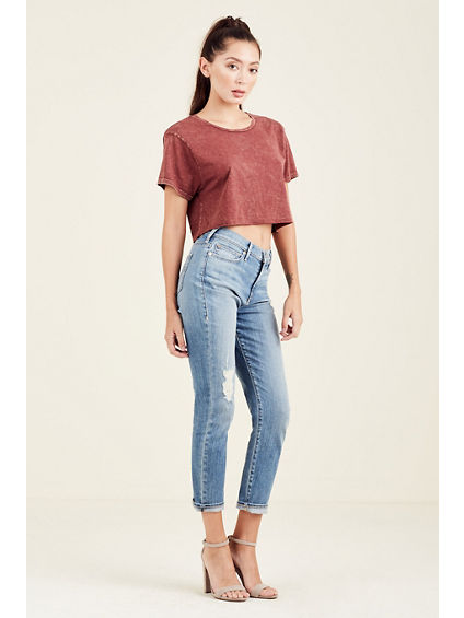 CROPPED BOYFRIEND WOMENS TEE
