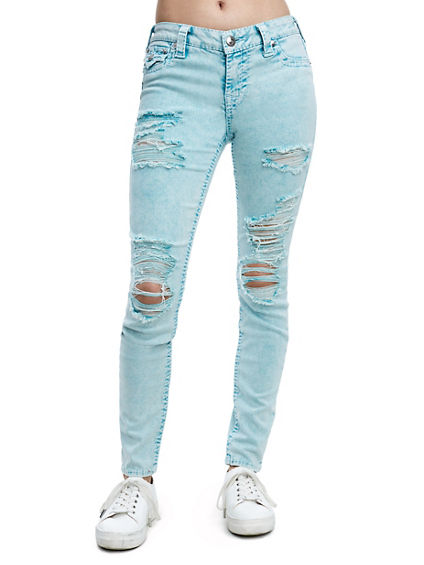 SUPER SKINNY FIT BIG T DISTRESSED JEAN