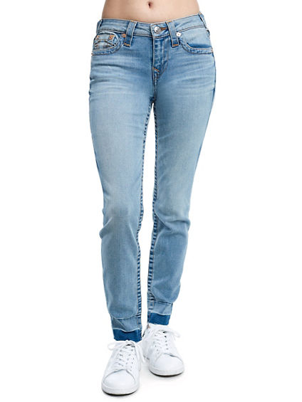 SUPER SKINNY FIT FRAY ANKLE JEAN