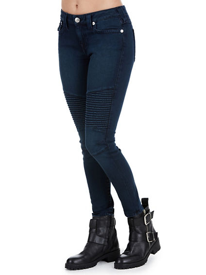 SUPER SKINNY MOTO ANKLE  WOMENS JEAN