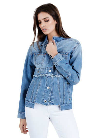 TRUCKER  JACKET GROMMET SNAP WOMENS JACKET