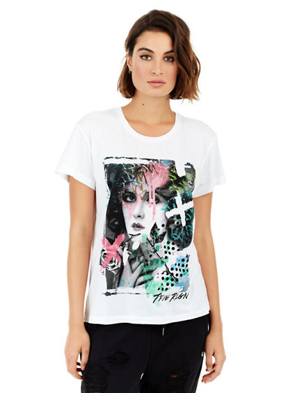 SPRAY PAINT PORTRAIT WOMENS TEE