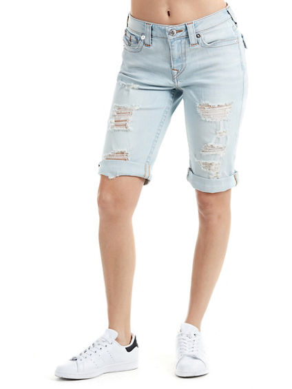 CURVY KNEE LENGTH SHORTS