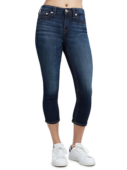 HIGH WAISTED CAPRI JEAN