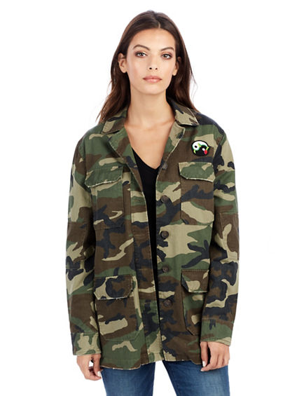 PEACOCK CAMO WOMENS JACKET