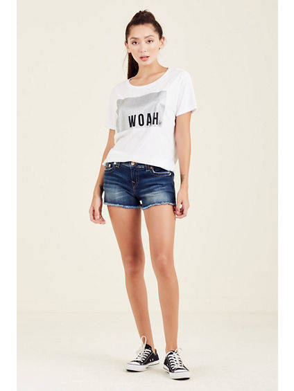 KEIRA LOW RISE CUTOFF SHORT