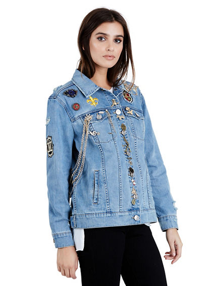 WOMENS EMBELISHED DANNI DENIM JACKET