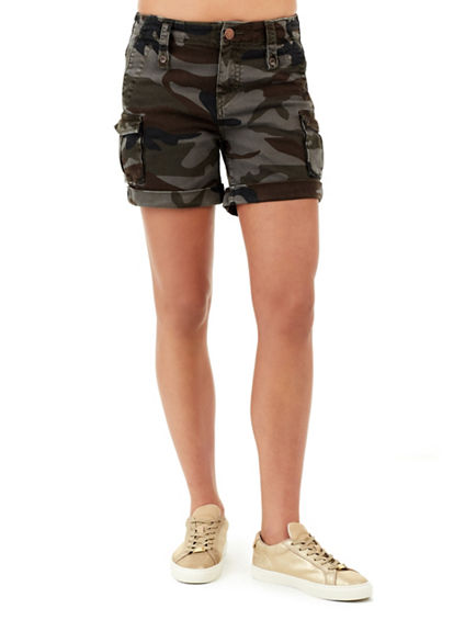JENNIE HIGH RISE WOMENS CARGO SHORT