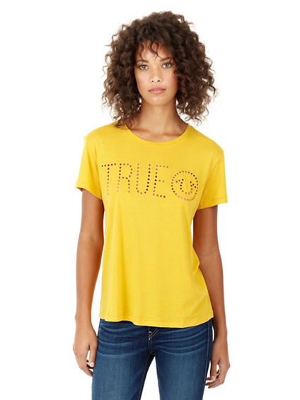 TRUE PERFORATED BF WOMENS TEE