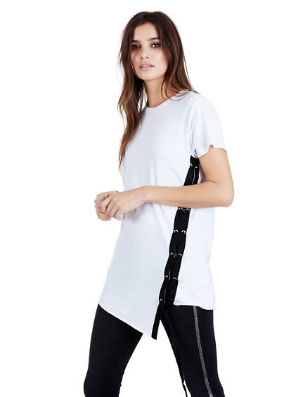 SIDE TIE WOMENS TOP