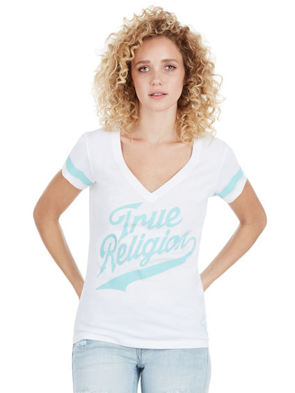TR ATHLETIC DEEP V WOMENS TEE