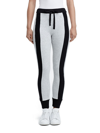 WOMENS RIB STRIPE JOGGER