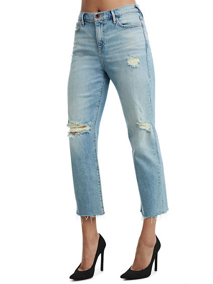 HIGH RISE STARR CROP STRAIGHT WOMENS JEAN
