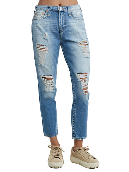 HIGH WAISTED BOYFRIEND ANKLE JEAN