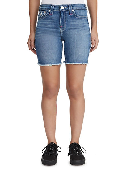MID CUTOFF DENIM SHORT