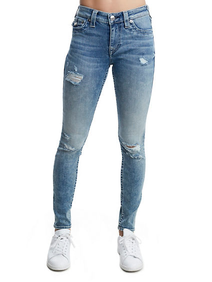 CURVY SKINNY FIT DISTRESSED JEAN