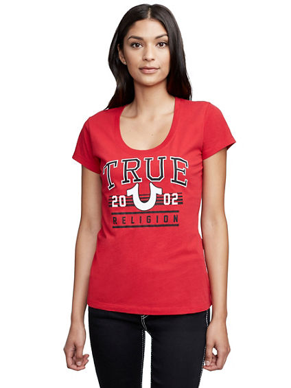 ATHLETIC TRUE HORSESHOE SCOOP NECK TEE