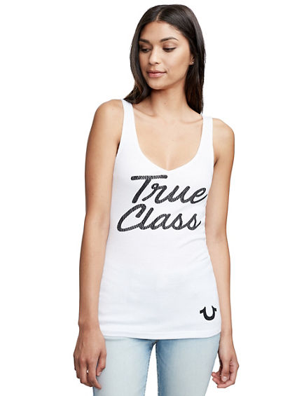 TRUE CLASS V NECK RIB TANK