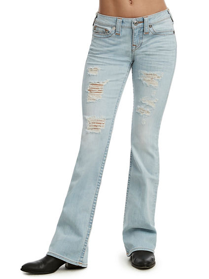 BOOTCUT DISTRESSED JEAN