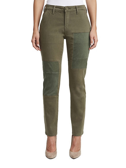 WOMENS PATCH UTILITY CHINO PANT