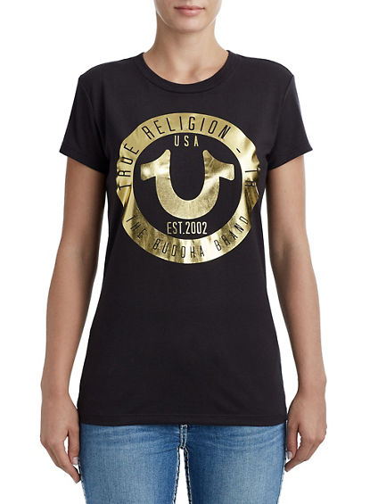 CIRCLE HORSESHOE CREW NECK TEE