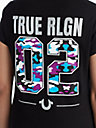 WOMENS CRYSTAL EMBELLISHED CAMO GRAPHIC TEE
