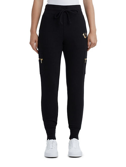 WOMENS ZIP CARGO SWEATPANT