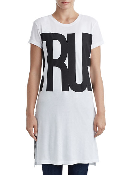 WOMENS BIG TRUE GRAPHIC TEE TUNIC