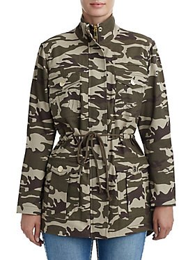 WOMENS CAMO PARKA JACKET