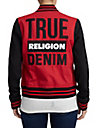 WOMENS TRUE RELIGION DENIM VARSITY JACKET