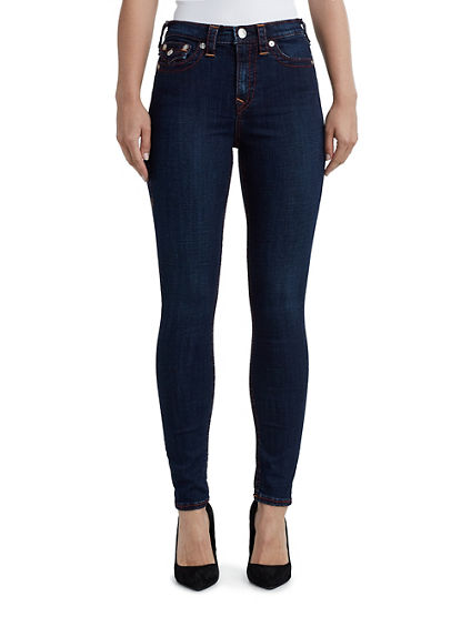 WOMENS HIGH RISE BIG T SUPER SKINNY JEAN W/ FLAP