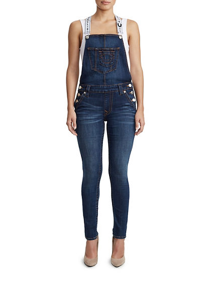 WOMENS ANKLE SKINNY OVERALL
