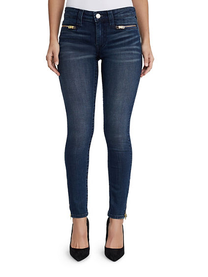 WOMENS ZIP ANKLE SUPER SKINNY JEAN