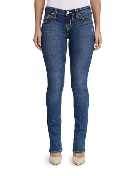 WOMENS MULTI BIG T STRAIGHT JEAN