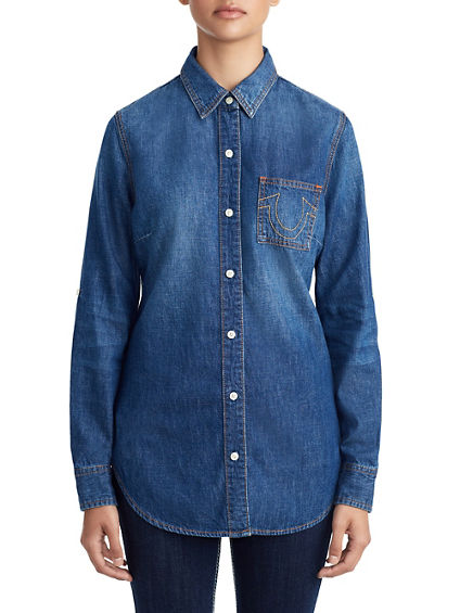 WOMENS BOYFRIEND DENIM SHIRT