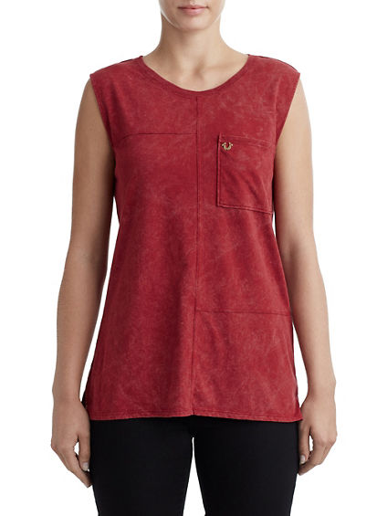 SEAMED WASH  WOMENS TANK
