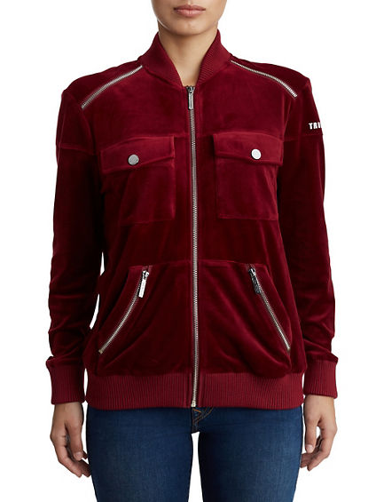 WOMENS TR ZIP UP BOMBER JACKET