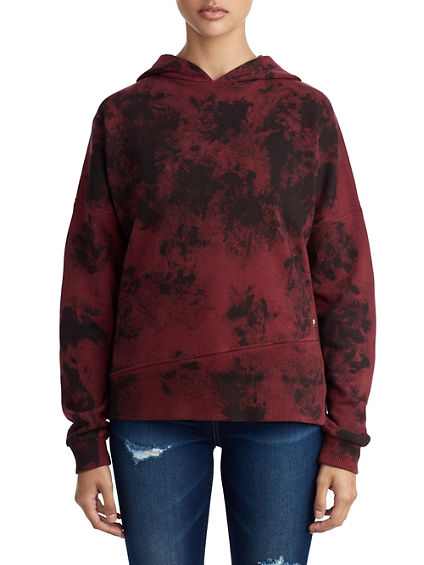 WOMENS CRAFTED PRINT PULLOVER HOODIE