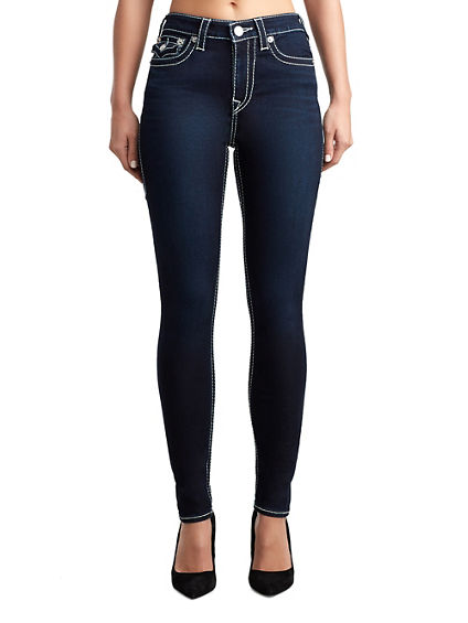WOMENS BIG T HIGH RISE HALLE SUPER SKINNY JEAN W/ FLAP