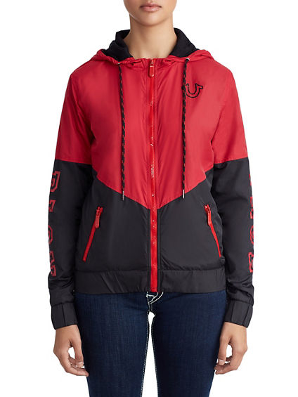 WOMENS ATHLETIC WINDBREAKER JACKET