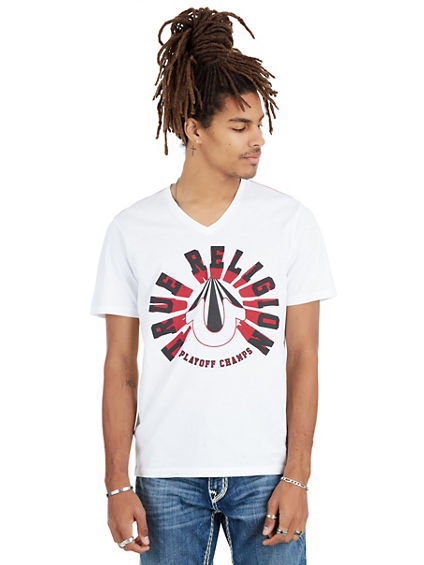 TRUE PERCEPTION V NECK MENS TEE