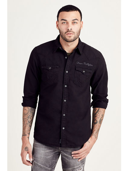 TRIPLE NEEDLE MENS WESTERN SHIRT