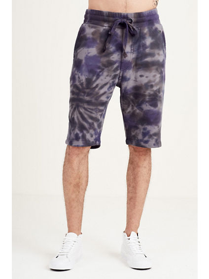 SPIRAL TIE DYE MENS SWEAT SHORT