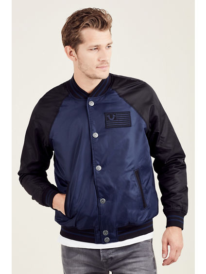 MENS NYLON JACKET WITH CONTRAST SLEEVES