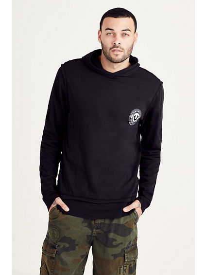 DOUBLE LAYER PULLOVER MENS HOODIE